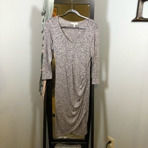 Heather grey maternity dress
